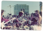 Duke Bardwell performing a street concert in LA, early 1970s